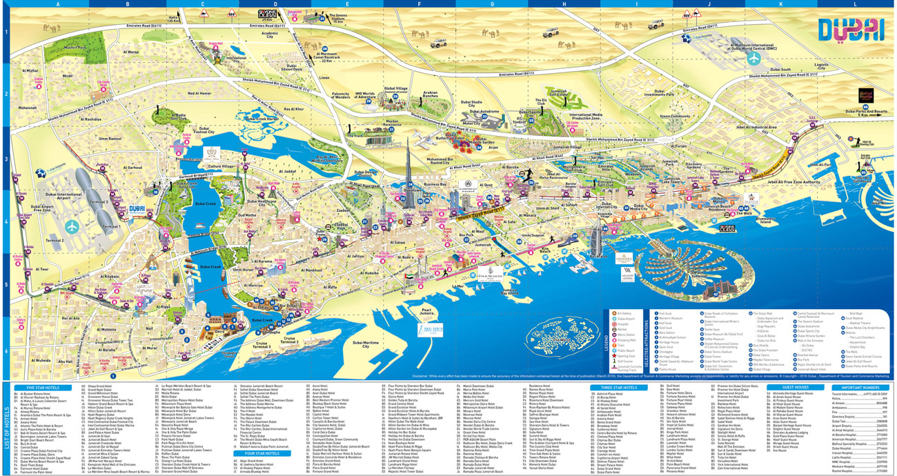 Cartina Turistica Dubai.Mappa Dubai